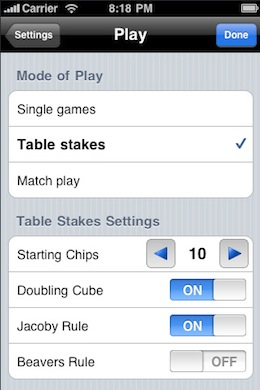iGammon Backgammon iPhone