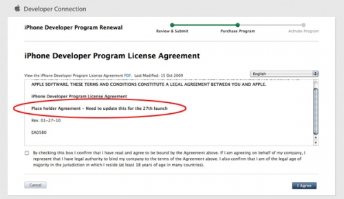iPhone Developer Agreement Hints New OS