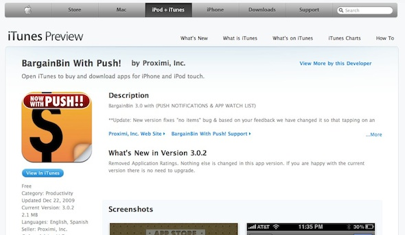 Apple enables iTunes Preview for App Store