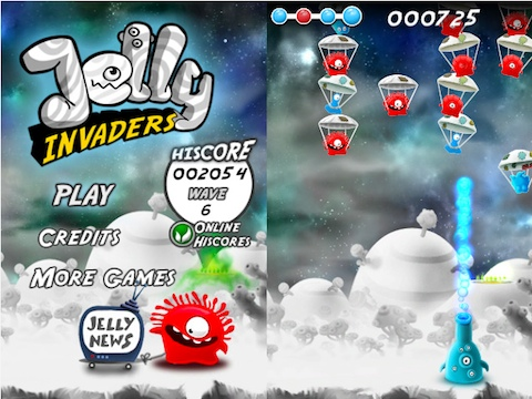 Jelly Invaders iPhone Appstore