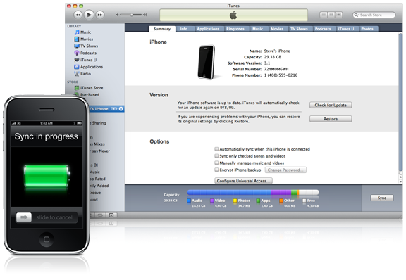 New iPhone Syncing Support With OS 3.2