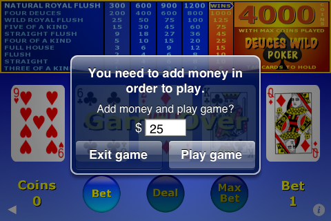 Ultimate Video Poker iPhone