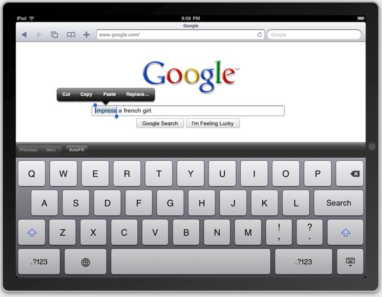 iPad Menu 1