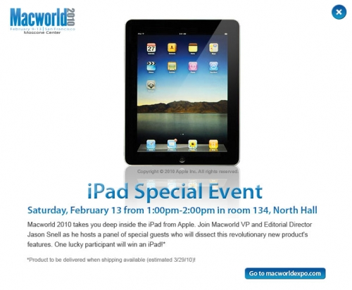 iPad on MacWorld 2010