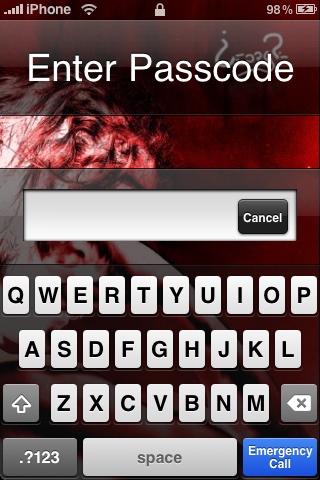 iPhone Alpha-numeric Passcode