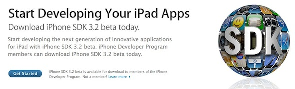 iPhone SDK 3.2 beta 2 iPad