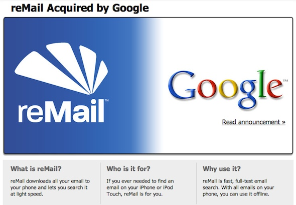 reMail acquired by Google
