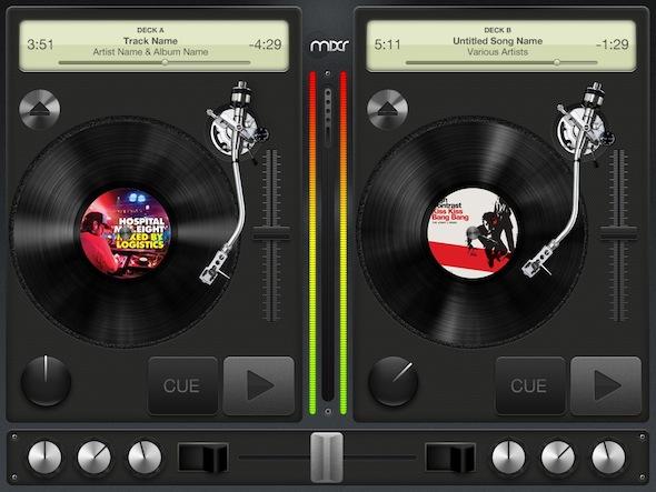 Mixr DJ iPad app