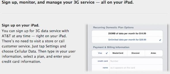 iPad 3G service