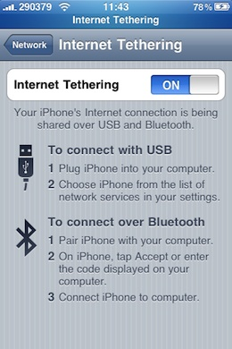iPhone Tethering VodafoneGR