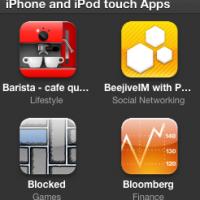 iTunes iPH Apps