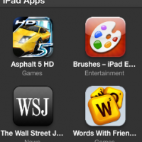 iTunes iPad Apps