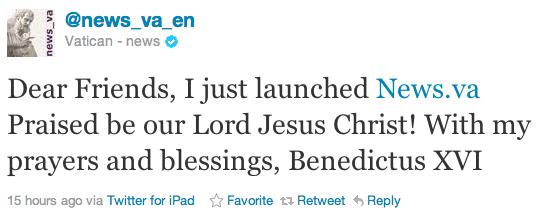 Πάπας twitter iPad