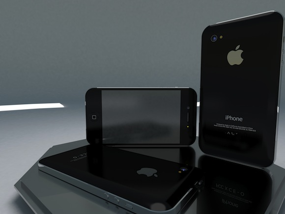 iPhone 5 closeup concept