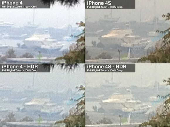 iPhone 4S vs iPhone 4 Digital Zoom crop