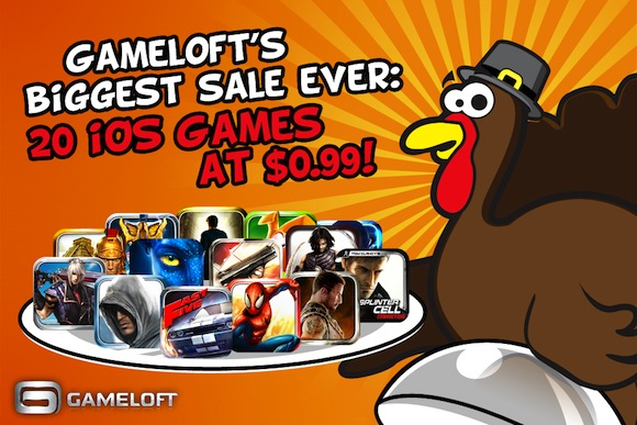 Gameloft App store Thanksgiving