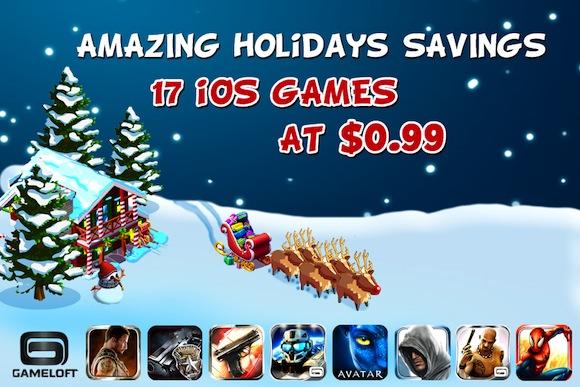 Gameloft Xmas Appstore Sale