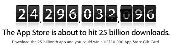 App store 25 billion apps contest
