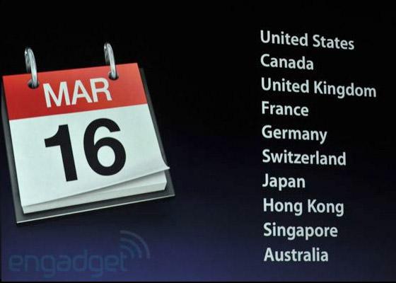 iPad release date