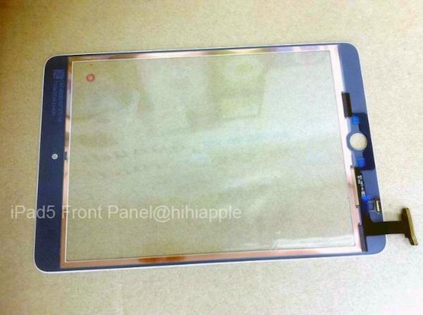 iPad 5 leaked panel