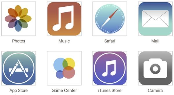 iOS 7 icons leak