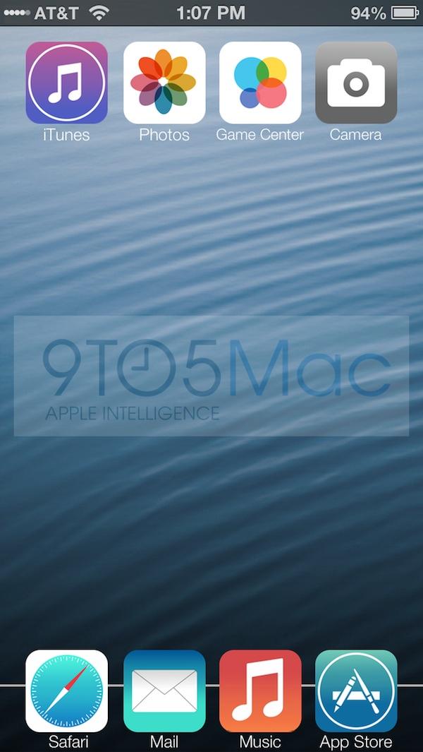 iOS 7 Homescreen dock leak