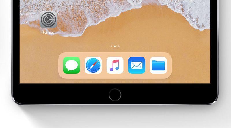 iPad iOS 11 dock