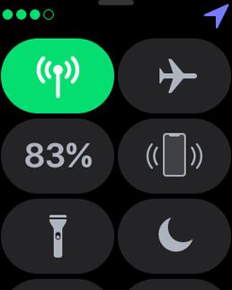 LTE Apple Watch Control Center