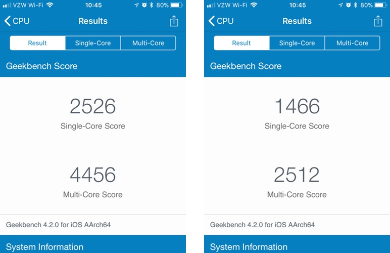 iPhone-Geekbench-scores-before-after-bat
