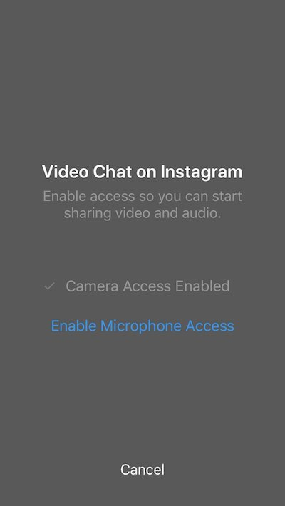 Instagram video chat ios