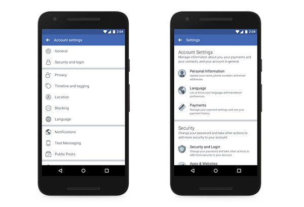 Facebook-existing-v-redesign-settings