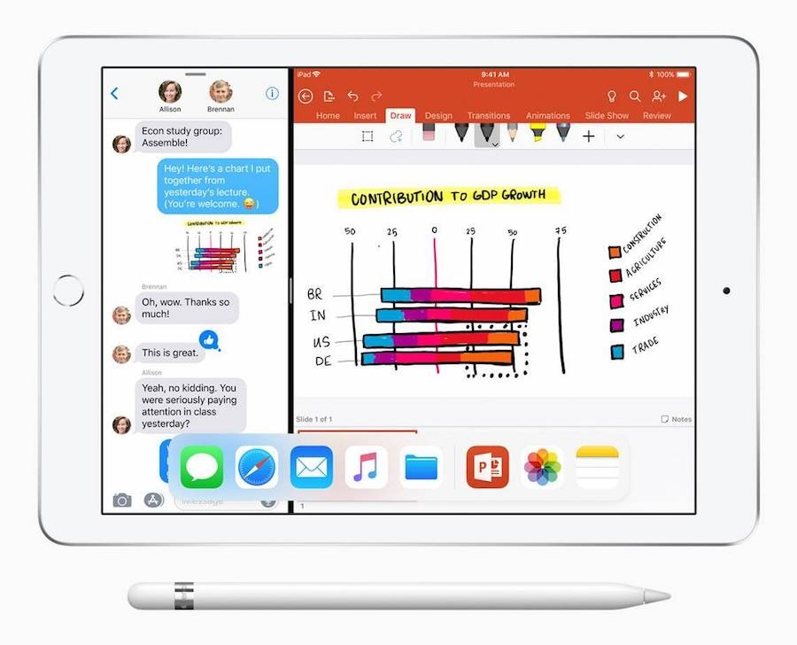 iWork Pages iOS Apple Pencil Support
