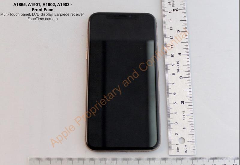 Gold iPhone X FCC