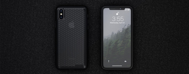 NOMAD Case Hexagon for Apple iPhone X Rugged - BLACK SMOKE GRAY 2