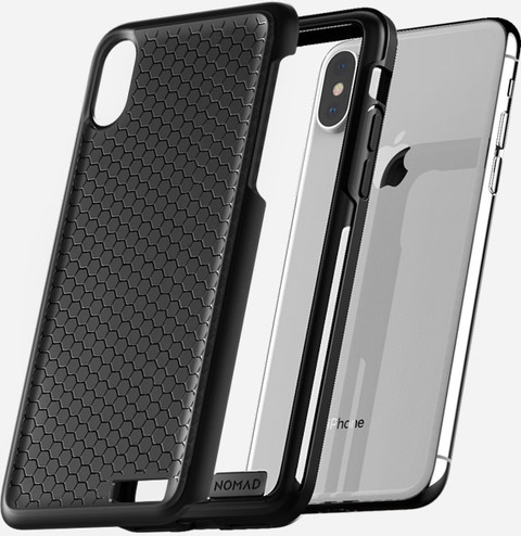 NOMAD Case Hexagon for Apple iPhone X Rugged - BLACK SMOKE GRAY