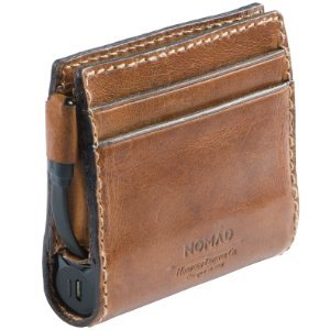 Nomad SLIM Wallet with integrated batt. 2400mAh and lightning - NomadPortable - TAN