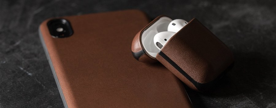 NOMAD leather case for AirPods 4