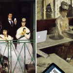 a family gathering after the balcony by édouard manet 1868 and in a cafe after labsinthe by edgar degas 1876