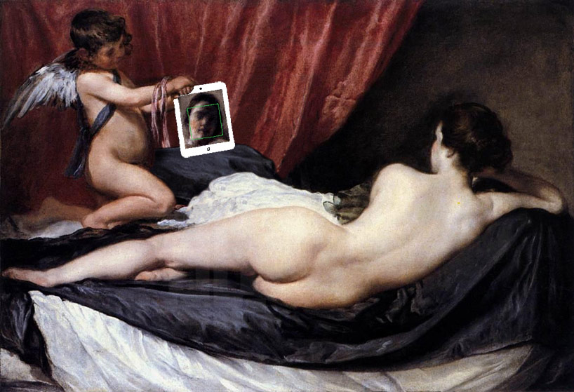 her mirror after rokeby venus by diego velázquez 1647–51