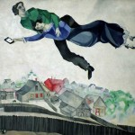 news of kidnapping on facebook after over the town by marc chagall 1917-18