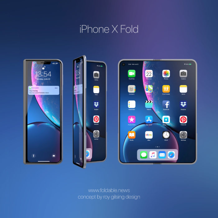 foldable iphone x concept. Black Bedroom Furniture Sets. Home Design Ideas